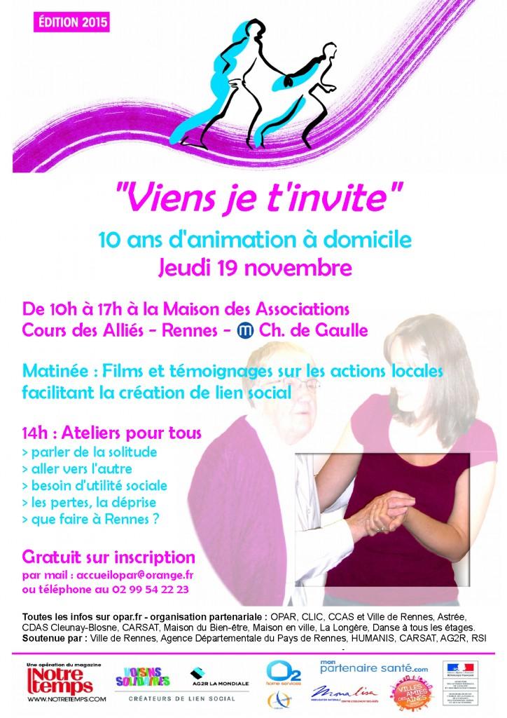 Viens je t'invite le 19 novembre