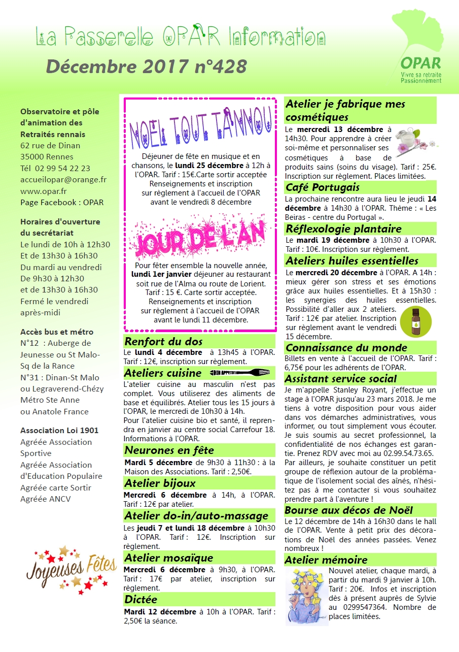 Mensuel d'information